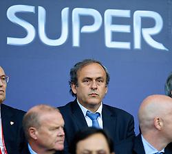 12-08-2014 WAL: UEFA Super Pokal, Real Madrid vs FC Sevilla, Cardiff<br /> UEFA president Michel Platini <br /> <br /> ***NETHERLANDS ONLY***