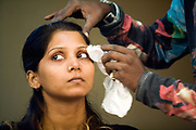 An actress is made up backstage during a rehearsal of the production of The Merchants of Bollywood in a studio in Mumbai, India<br /> <br /> The Merchants of Bollywood, An Indian theatrical dance musical, charts the history of the world's largest and most prolific film industry, and is loosely based on the showbusiness, Merchant family. Seen by over two million people worldwide, the show is homage to the world of Indian cinema.