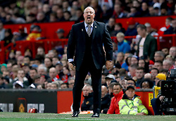 Newcastle United manager Rafael Benitez shouts from the touchline during the Premier League match at Old Trafford, Manchester.