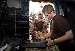 Prince Harry at work at JTAC Hill close to FOB (forward operating base) Delhi in Helmand Province, Southern Afghanistan on January 2, 2008.
