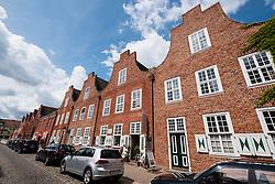 Row of traditional Dutch style houses in Dutch Quarter in Potsdam Brandenburg Germany
