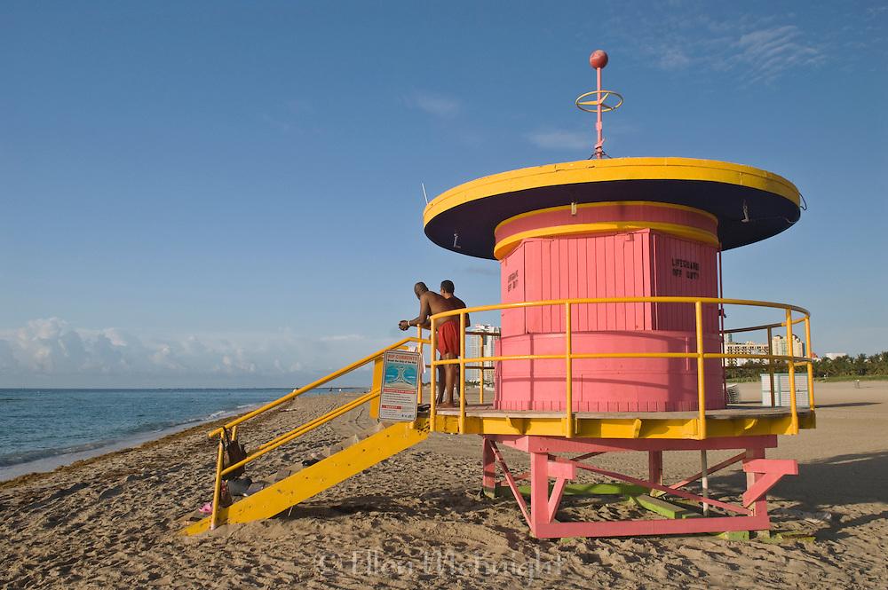 Whimsical Lifeguard Hut at Miami Beach, Florida