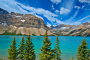 Bow Lake and Crowfoot Mountain<br />Banff National Park<br />Alberta<br />Canada