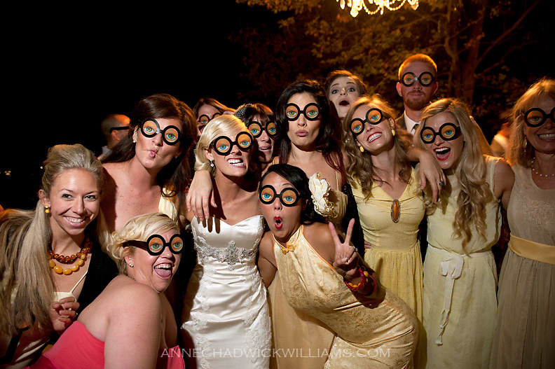 A bride and her friends at her wedding reception at Coloma Country Inn on  Oct. 29, 2011.