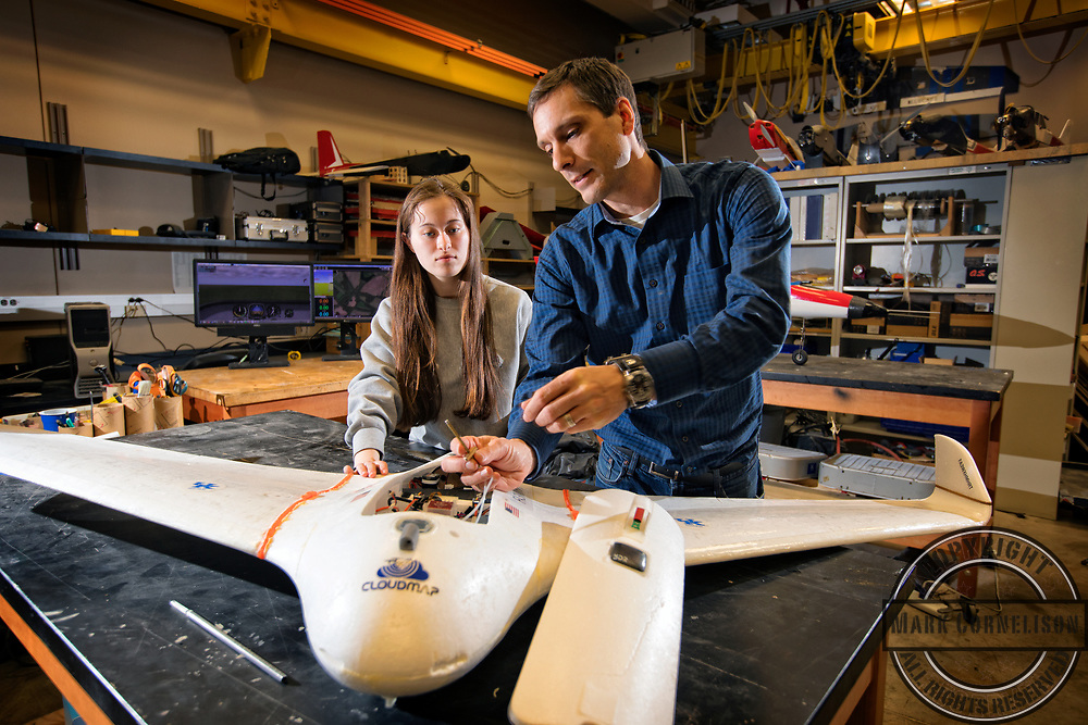 Drone lab in the Engineering building on Tuesday March 8, 2017. Photo by Mark Cornelison | UKphoto