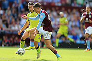 Jack Grealish of Aston Villa in action. EFL Skybet championship match, Aston Villa v Rotherham Utd at Villa Park in Birmingham, The Midlands on Saturday 13th August 2016.<br /> pic by Andrew Orchard, Andrew Orchard sports photography.
