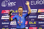 Elia Viviani (Italy) Vice Champion of Europe Omnium on the podium during the Track Cycling European Championships Glasgow 2018, at Sir Chris Hoy Velodrome, in Glasgow, Great Britain, Day 3, on August 4, 2018 - Photo Laurent lairys / ProSportsImages / DPPI