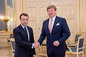 Koning Willem Alexander ontvangt president Macron