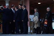 Bruno Gomez-Acebo, Simoneta Gomez-Acebo attends Princess PIlar Borbon funeral chapel  installed in the Gomez-Acebo house on January 8, 2020 in Madrid, Spain