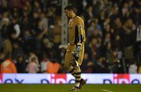 Photo: Daniel Hambury.<br />Fulham v Charlton Athletic. The Barclays Premiership. 16/10/2006.<br />Charlton's 'keeper Scott Carson looks a broken man after conceding two second half goals.