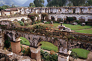 Ruins of the church & convent of Santa Clara, in Antigua, Guatemala.
