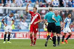 Ben Gibson of Middlesbrough celebrates his sides 1-2 win at the final whistle - Photo mandatory by-line: Rogan Thomson/JMP - 07966 386802 - 13/09/2014 - SPORT - FOOTBALL - Huddersfield, England - The John Smith's Stadium - Huddersfield town v Middlesbrough - Sky Bet Championship.