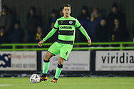 Forest Green Rovers Lloyd James(4) on the ball during the The FA Cup 1st round replay match between Forest Green Rovers and Oxford United at the New Lawn, Forest Green, United Kingdom on 20 November 2018.