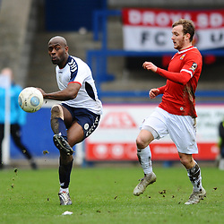 TELFORD COPYRIGHT MIKE SHERIDAN 9/3/2019 - Theo Streete of AFC Telford clears during the National League North fixture between AFC Telford United and FC United of Manchester (FCUM) at the New Bucks Head Stadium