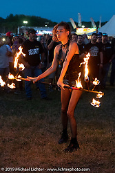 Fire show at the Volusia County Fairgrounds in Deland during Daytona Beach Bike Week, FL. USA. Friday, March 15, 2019. Photography ©2019 Michael Lichter.