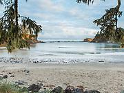 Sunset Bay, Oregon.  Low Tide Morning