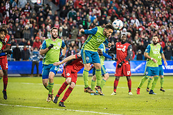 December 9, 2017 - Toronto, Ontario, Canada - Seattle Sounders midfielder CRISTIAN ROLDAN (7) heads the ball away from goal during the MLS Cup championship match at BMO Field in Toronto, Canada.  Toronto FC defeats Seattle Sounders 2 to 0. (Credit Image: © Mark Smith via ZUMA Wire)