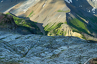Basin of karst limestone formations, Height-of-the-Rockies Provincial Park British Columbia Canada