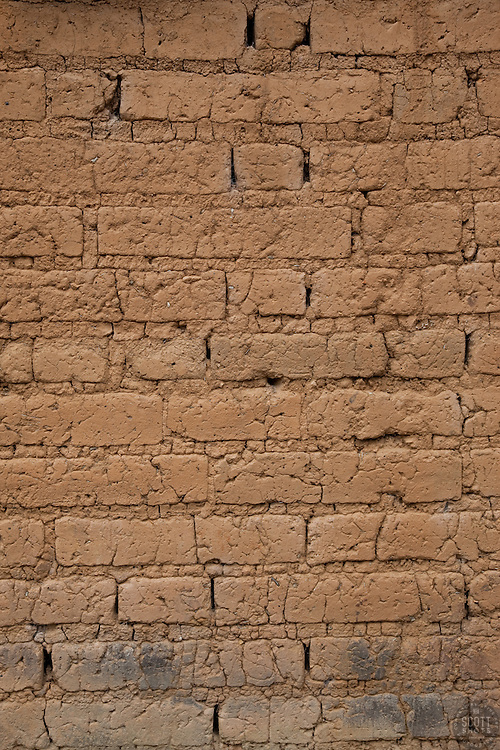 """""""Wall 2"""" - This old brick wall was photographed in the small mountain town of San Sebastian, Mexico."""