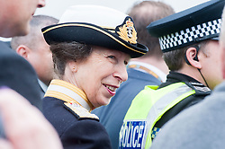 In the Shadow of Sterling Castle and Wallace's Monument HRH Princess Anne the Princes Royal joins the 1,000's of servicemen and women taking part in the 6th Annual Armed Forces Day. <br /> <br /> June 29 2014<br /> Copyright Paul David Drabble<br /> www.pauldaviddrabble.co.uk