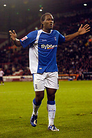 Photo: Jed Wee.<br /> Sheffield United v Birmingham City. Carling Cup. 24/10/2006.<br /> <br /> Birmingham's Cameron Jerome celebrates his goal.