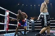 Boxen: World Boxing Super Series, Ali-Trophy,  Berlin, 09.09.2017<br /> Albon Pervizaj (GER) - Tomas Mrazek (CZE) (CZE)<br /> © Torsten Helmke