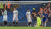 Football - 2017 / 2018 Premier League - Chelsea vs Crystal Palace<br /> <br /> Crystal Palace players looking despondent after conceding the second goal at Stamford Bridge <br /> <br /> COLORSPORT/DANIEL BEARHAM