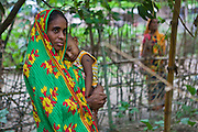 Mothers club member Bilkar Nahar, Tamim. Has had her garden 7-8 yrs and uses it for herself, but also to distribute vegetables to her neighbours. The IFB helps with nutrition training..Impact Foundation Bangladesh (IFB) provides care, support and treatment to people with disabilities in Bangladesh.