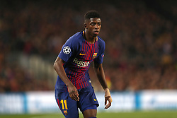 March 14, 2018 - Barcelona, Spain - OUSMANE DEMBELE of FC Barcelona during the UEFA Champions League, round of 16, 2nd leg football match between FC Barcelona and Chelsea FC on March 14, 2018 at Camp Nou stadium in Barcelona, Spain (Credit Image: © Manuel Blondeau via ZUMA Wire)