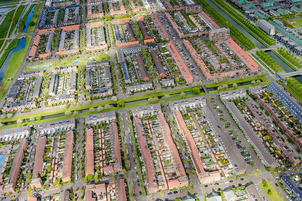 Nederland, Zuid-Holland, Gemeente Den Haag, 28-04-2017; stadsdeel Leidschenveen-Ypenburg, de Vinex-wijk Ypenburg, op de plaats van het voormalige vliegveld Ypenburg.<br /> New residential quarters near The Hague.<br /> luchtfoto (toeslag op standard tarieven);<br /> aerial photo (additional fee required);<br /> copyright foto/photo Siebe Swart