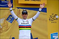 Sykkel<br /> Tour de France 2011<br /> 06.07.2011<br /> Foto: PhotoNews/Digitalsport<br /> NORWAY ONLY<br /> <br /> 5th stage / Carhaix - Cap Frehel<br /> <br /> HUSHOVD Thor (TEAM GARMIN - CERVELO - NOR)
