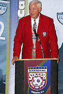 28 August 2006: 2006 Hall of Fame inductee Al Trost. The National Soccer Hall of Fame Induction Ceremony was held at the National Soccer Hall of Fame in Oneonta, New York.