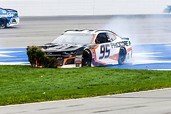April 8, 2018 - Fort Worth, TX, U.S. - FORT WORTH, TX - APRIL 08: Monster Energy NASCAR Cup Series driver Kasey Kahne (95) slides down the front stretch and plows the turf in the infield during the O'Reilly Auto Parts 500 at the Texas Motor Speedway in Fort Worth, Texas. (Photo by Matthew Pearce/Icon Sportswire) (Credit Image: © Matthew Pearce/Icon SMI via ZUMA Press)
