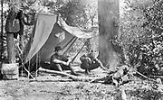 """9005-07 """"fishing trip up river. Camp."""" Spring 1915, Washington State,"""