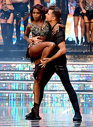 Oti Mabuse (left) and Pasha Kovalev at the launch of Strictly Come Dancing 2018 held at The Broadcasting House, London.