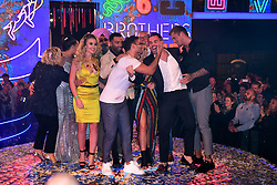 Winner Ryan Thomas with the other contestants during the live final of Celebrity Big Brother at Elstree Studios, Hertfordshire.