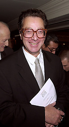 LORD SAATCHI at a luncheon in London on 18th October 2000.OHZ 78