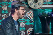 Henham Park, Suffolk, 20 July 2019. Live music from Ben Folds - The Dermot O'Leary show for BBC Radio 2 is broadcast from the BBC Introducing stage in the woods. The 2019 Latitude Festival.
