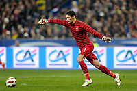 FOOTBALL - FRIENDLY GAME 2010/2011 - FRANCE v BRAZIL - 9/02/2011 - PHOTO JEAN MARIE HERVIO / DPPI - HUGO LLORIS (FRA)