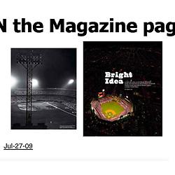 ESPN Magazine, Story of Stadium Lights Featuring Citizens Bank Park