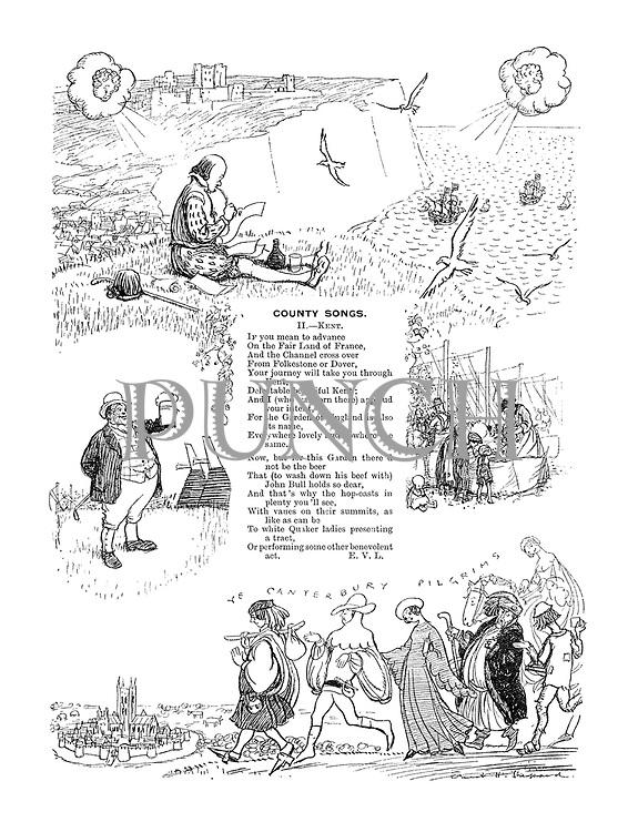 County Songs. II. Kent. (Illustrated poem)