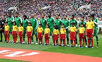 Football - 2018 FIFA World Cup - Group A: Russia vs. Saudi Arabia<br /> <br /> Saudi Arabia are seen at the Luzhniki Stadium, Moscow.<br /> <br /> COLORSPORT/IAN MACNICOL