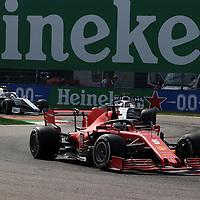 06.09.2020, Autodromo Nazionale di Monza, Monza, FORMULA 1 GRAN PREMIO HEINEKEN D'ITALIA 2020<br />,im Bild<br />Sebastian Vettel (GER#5), Scuderia Ferrari, George Russel (GBR#63), Rokit Williams Racing, Nicholas Latifi (CAN#6), Rokit Williams Racing<br /> <br /> Foto © nordphoto / Bratic