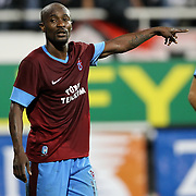 Trabzonspor's Deguy Alain Didier Zokora during their Turkish Superleague soccer derby match Besiktas between Trabzonspor at the Inonu Stadium at Dolmabahce in Istanbul Turkey on Sunday, 21 October 2012. Photo by Aykut AKICI/TURKPIX