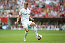 04.08.2015, Allianz Arena, Muenchen, GER, AUDI CUP, Real Madrid vs Tottenham Hotspur, im Bild Toni Kross (Real Madrid CF #8) // during the 2015 Audi Cup Match between Real Madrid and Tottenham Hotspur at the Allianz Arena in Muenchen, Germany on 2015/08/04. EXPA Pictures © 2015, PhotoCredit: EXPA/ Eibner-Pressefoto/ Schüler<br /> <br /> *****ATTENTION - OUT of GER*****