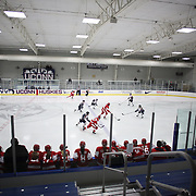 A general view during the UConn Vs Boston University, Women's Ice Hockey game at Mark Edward Freitas Ice Forum, Storrs, Connecticut, USA. 5th December 2015. Photo Tim Clayton