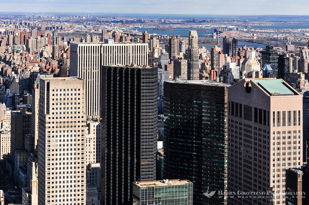 US, New York City. View from Top of the Rock Observation Deck, 30 Rockefeller Plaza.