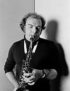 Van Morrison with saxaphone portrait 1980