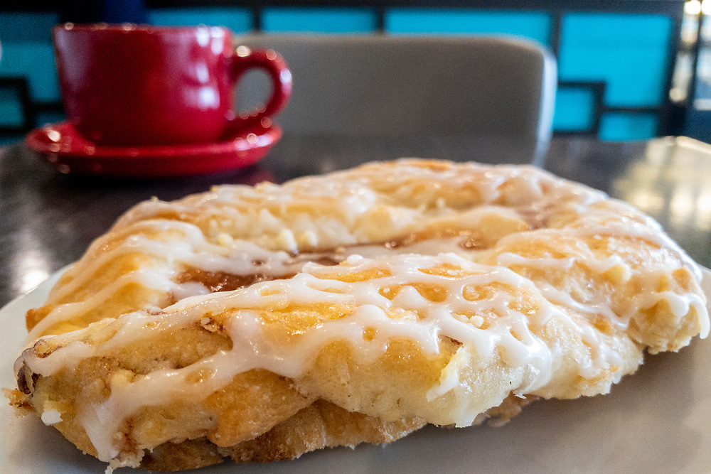 Fresh baked pastry and coffee at Dolce Aroma Coffee Bar in Fayetteville, North Carolina on Tuesday, August 17, 2021. Copyright 2021 Jason Barnette