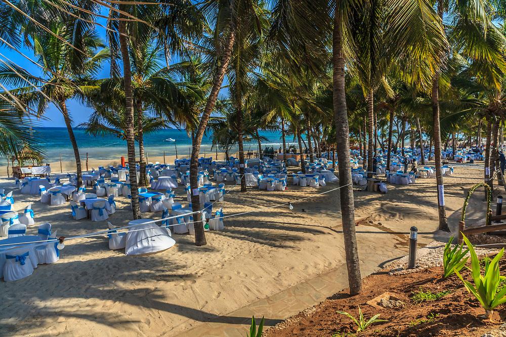 New Year celebration preparations in Amani Beach Resort, Kenya.